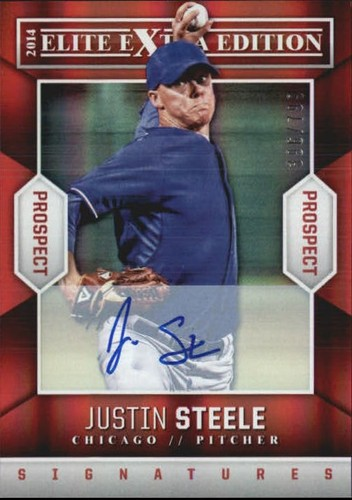 Photo of 2014 Elite Extra Edition Prospects Signatures #64 Justin Steele/799