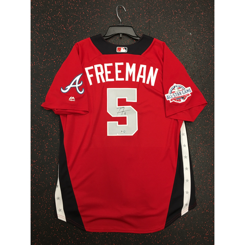 Photo of Freddie Freeman 2018 Major League Baseball Workout Day Autographed Jersey