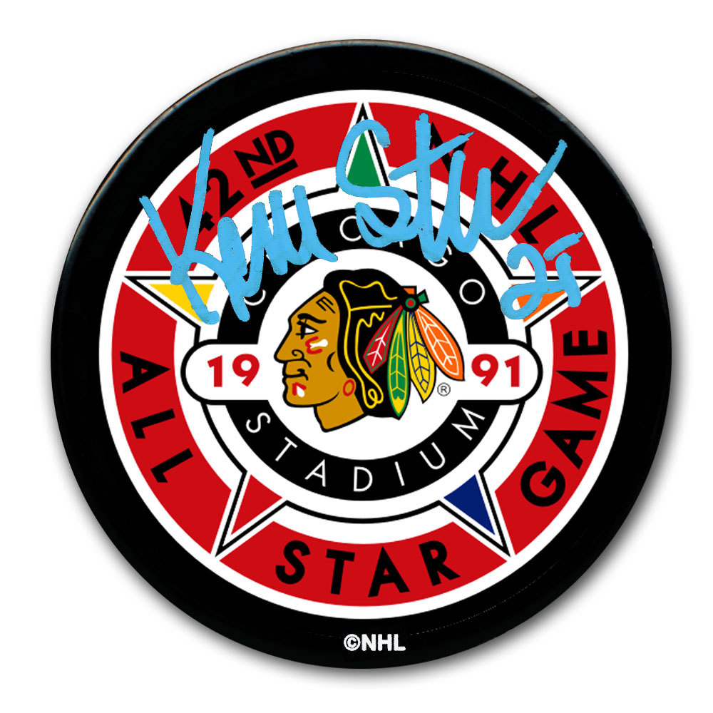 Kevin Stevens 1991 NHL All-Star Game Autographed Puck