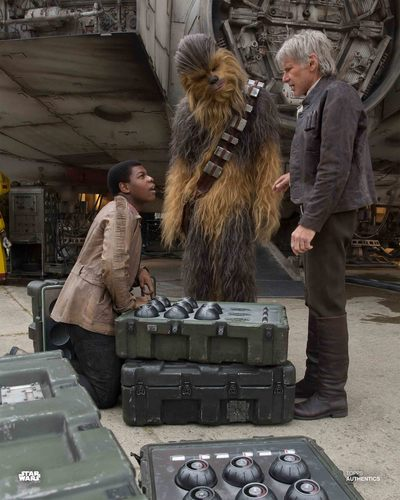 Han Solo, Finn and Chewbacca