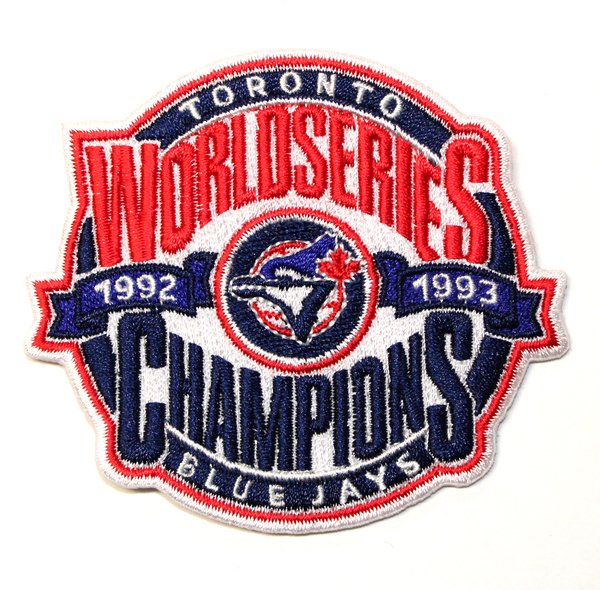 Toronto Blue Jays Back to Back World Series Champs Fan Patch by The Emblem Source