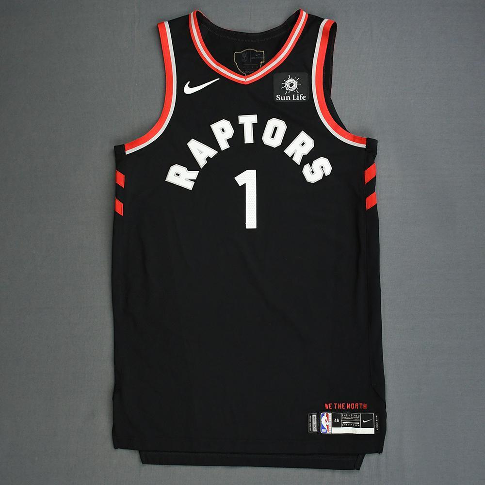 Patrick McCaw - Toronto Raptors - 2019 NBA Finals - Game 3 - Game-Worn Black Statement Edition Jersey