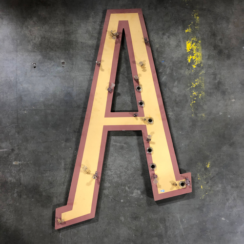 "Photo of AT&T Park Neon Letter ""A"" - 43.5""x26.5""x1"""