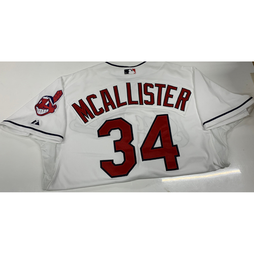 Photo of Zach McAllister Team-Issued Home Jersey