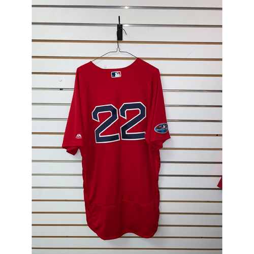 Photo of Rick Porcello Game Used October 5, 2018 Home Alternate Jersey