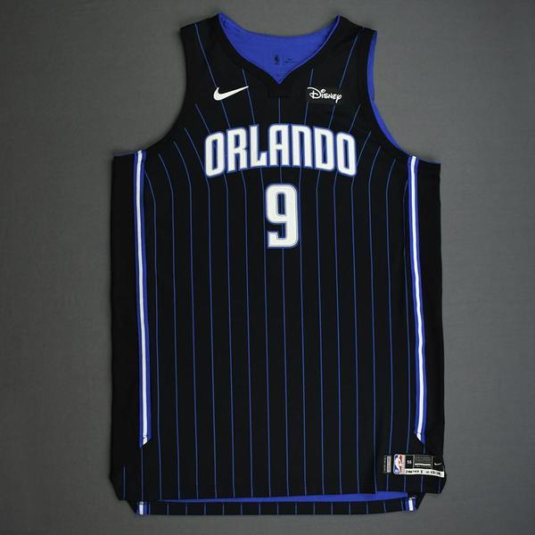 Image of Nikola Vucevic - Orlando Magic - Kia NBA Tip-Off 2019 - Game-Worn Icon Edition Jersey - Game-High 21 Points Scored