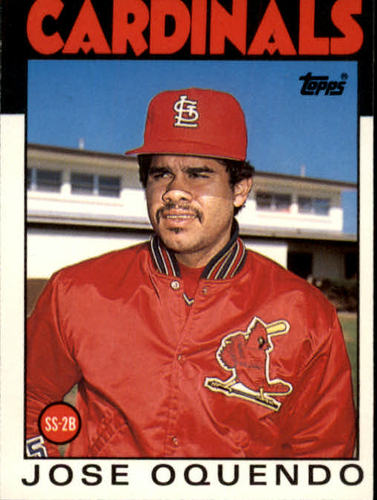 Photo of 1986 Topps Traded #82T Jose Oquendo