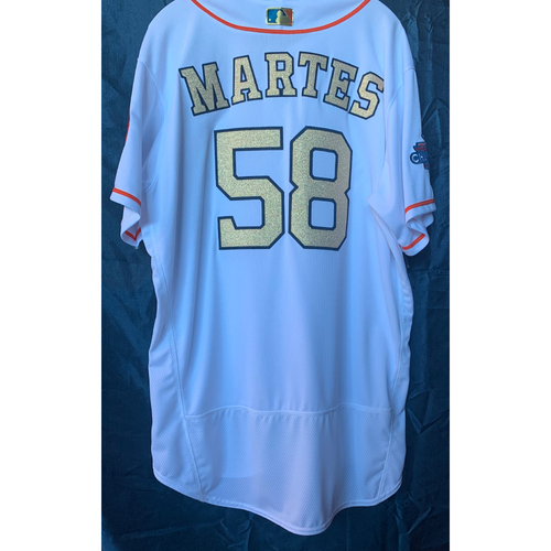 Photo of 2018 Francis Martes Team-Issued Home White Gold Jersey - Size 50