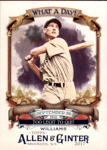 Photo of 2017 Topps Allen and Ginter What a Day #WAD47 Ted Williams
