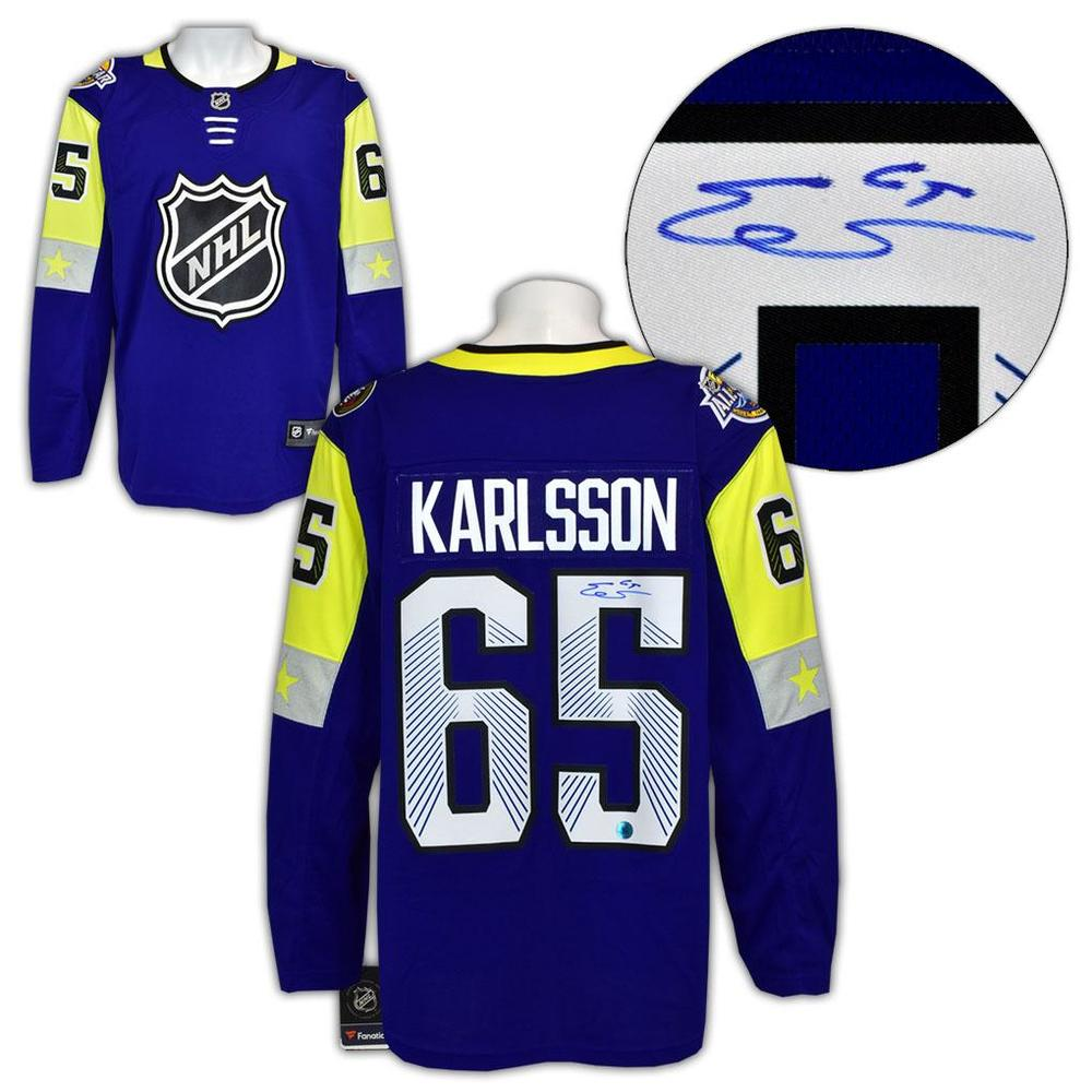 Erik Karlsson 2018 All Star Game Autographed Fanatics Hockey Jersey *San Jose Sharks*