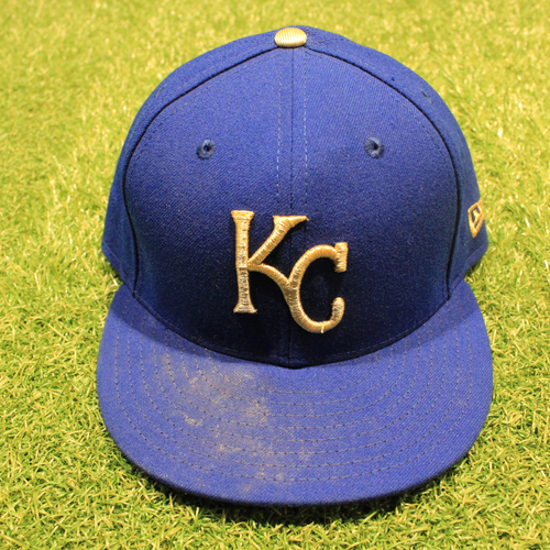 Game-Used 2020 Gold Hat: Adalberto Mondesi #27 (Size 7 1/2 - DET @ KC 9/25/20)