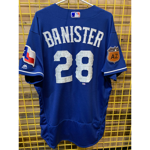 Photo of Jeff Banister Team-Issued 2017 Spring Training Jersey From 2017 Season