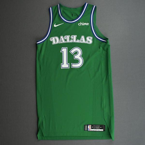 Image of Jalen Brunson - Dallas Mavericks - Classic Edition (1966-67 Home Uniform) Jersey - Christmas Day '20