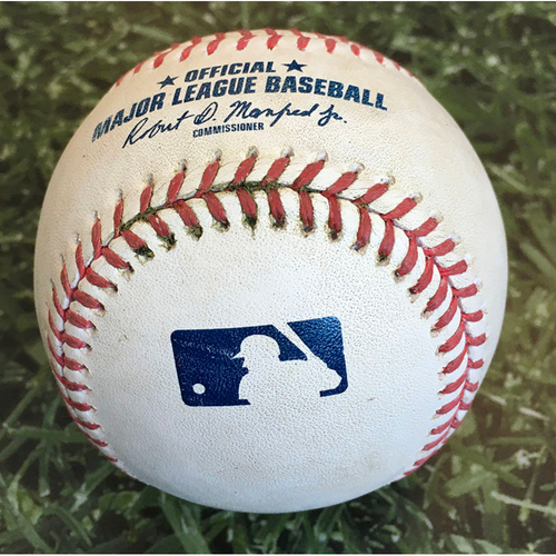 Photo of Game-Used Baseball DET@MIL 09/01/20 - Michael Fulmer - Eric Sogard (Strikeout) & Orlando Arcia (Single)