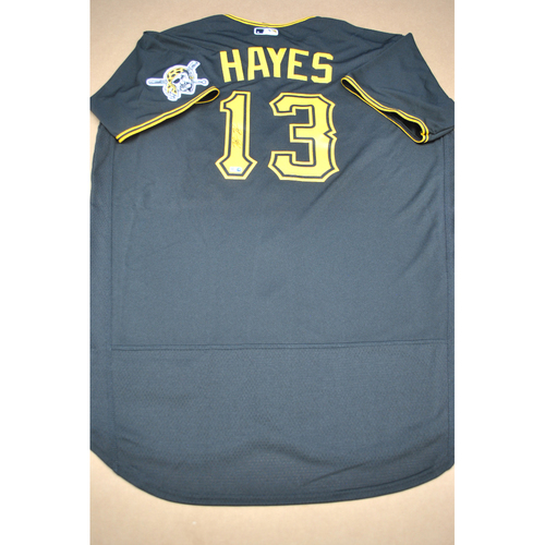 Photo of Autographed Black Road Jersey - Ke'Bryan Hayes - Size 48