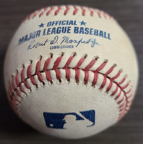 Photo of Authenticated Game Used Baseball: RBI Single by Ryan Mountcastle against Robbie Ray (Aug 30, 2021 vs BAL). Top 6.