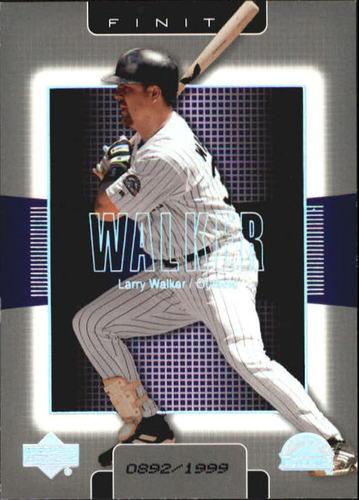 Photo of 2003 Upper Deck Finite #36 Larry Walker
