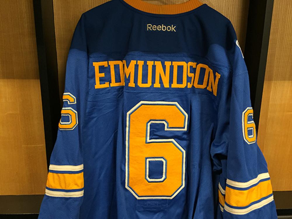 Joel Edmundson Winter Classic Game-worn Jersey