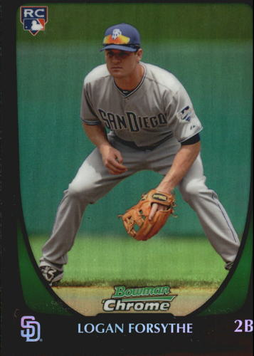 Photo of 2011 Bowman Chrome Draft Refractors #34 Logan Forsythe