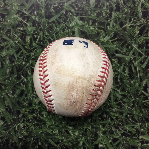 Game-Used Baseball 05/24/17 TOR@MIL - Marcus Stroman to Eric Thames: Strikeout