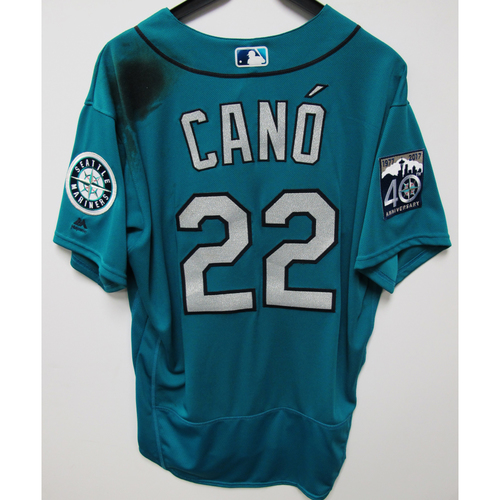 Photo of Robinson Cano Game-Used Green Jersey - 7-21-2017 - Size - 48