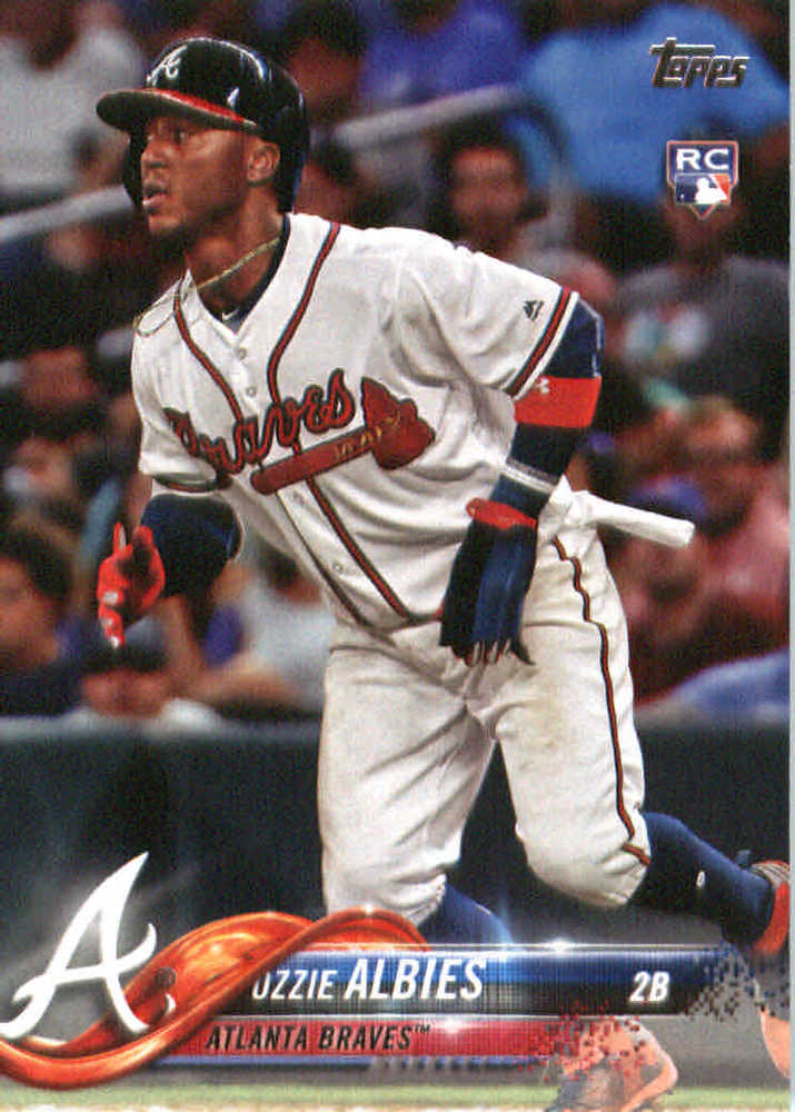 2018 Topps #276 Ozzie Albies Rookie Card