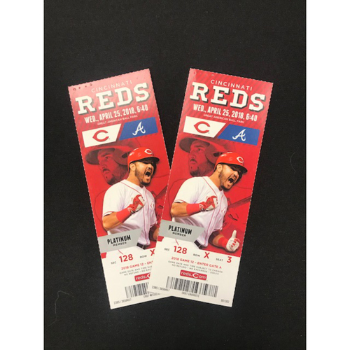 Photo of Ronald Acuna Jr. -- Pair of GABP Tickets -- MLB Debut Game -- Braves vs. Reds on April 25, 2018