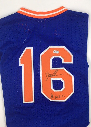 "Photo of Doc Gooden ""86 WSC"" Autographed Mets Jersey"