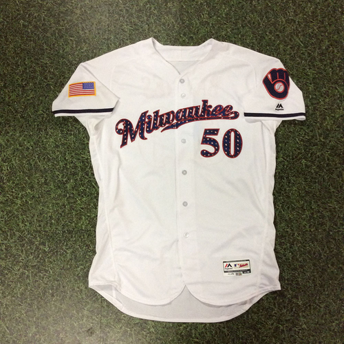 Photo of Jacob Barnes Game-Used 2018 Stars & Stripes Jersey
