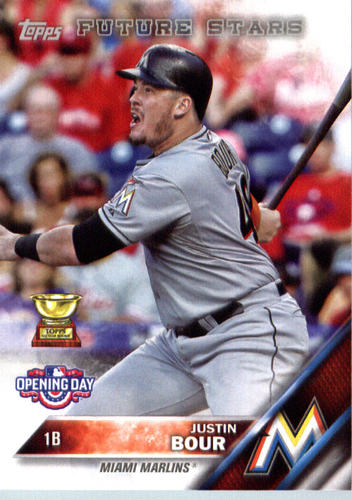 Photo of 2016 Topps Opening Day #OD181 Justin Bour