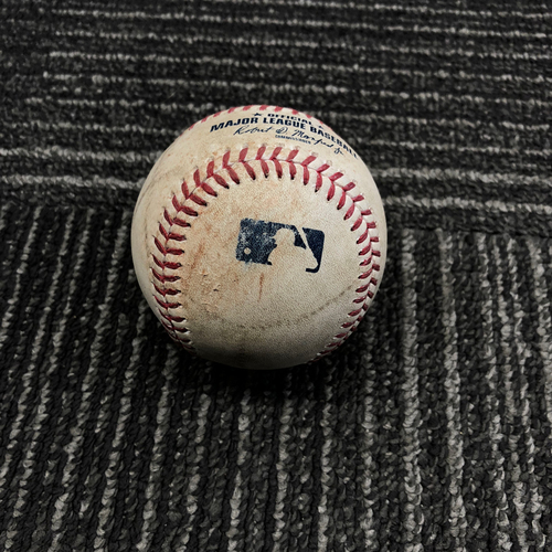 Photo of 2017 San Francisco Giants - Game-Used Baseball - Pablo Sandoval  RBI Doubles off of Jordan Lyles (Brandon Crawford Scores) - 9/29/17