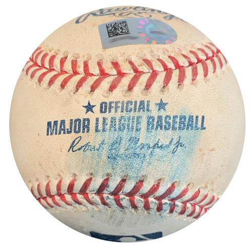 Photo of Game-Used Baseball from Pirates vs. Nationals on 7/9/18 - Ivan Nova Foul