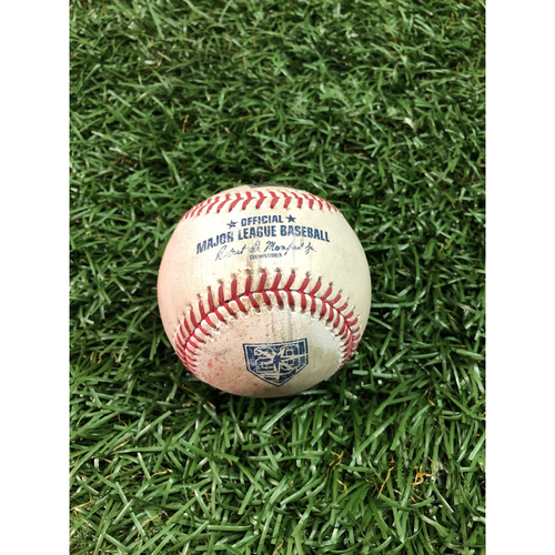 Photo of 20th Anniversary Game Used Baseball: Luke Voit single off Yonny Chirinos - September 26, 2018 v NYY
