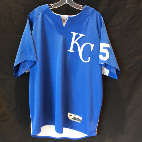 Photo of Team-Issued Batting Practice Jersey: #5 (Size - XL)
