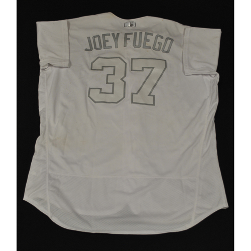 "Photo of Joey ""Joey Fuego"" Lucchesi San Diego Padres Game-Used 2019 Players' Weekend Jersey"