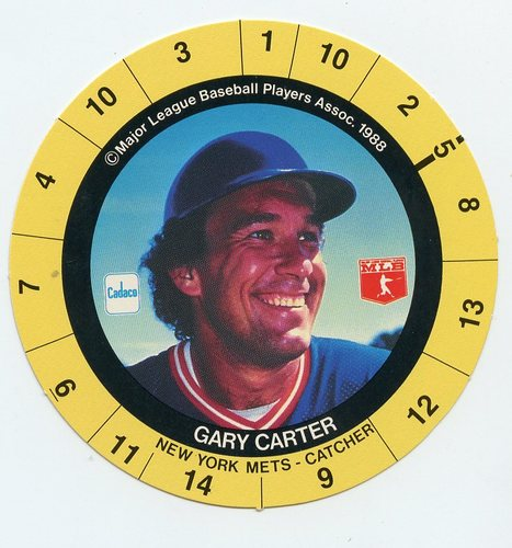 Photo of 1989 Cadaco Ellis Discs #6 Gary Carter