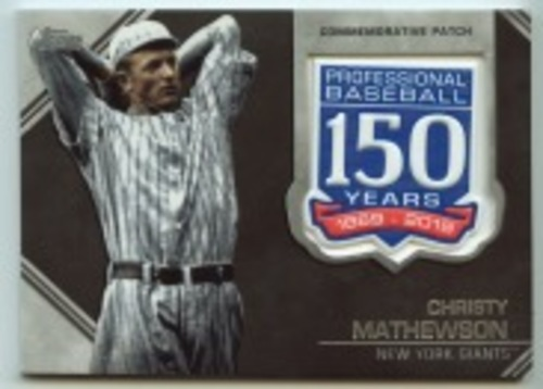 Photo of 2019 Topps Update 150th Anniversary Manufactured Patches #AMPCM Christy Mathewson