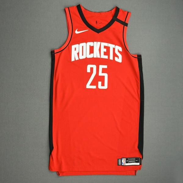 Image of Austin Rivers - Houston Rockets - Game-Worn Icon Edition Jersey - 2019-20 NBA Season Restart