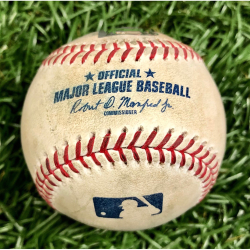 Photo of Game Used Baseball: Tommy Pham Strikeout, Nate Lowe Pop Out and Yandy Diaz Foul Ball off Lucas Giolito - July 20, 2019 v CWS