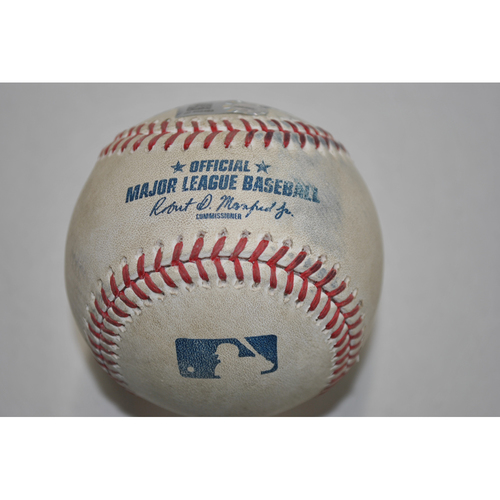Photo of Game-Used Baseball - CHC vs. PIT - 9/23/2020 - Pitcher - Kyle Hendricks - Batter - Adam Frazier, Bot 1, Home Run
