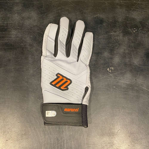 Photo of 2021 Team Issued Gray & Orange Marucci Batting Glove (Single) - #28 Buster Posey