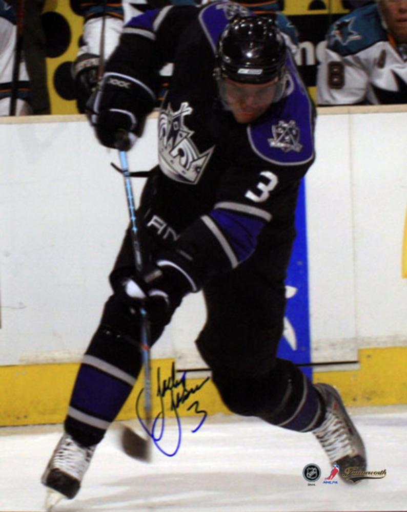 Johnson,J Signed 8x10 Black slapshot Los Angeles