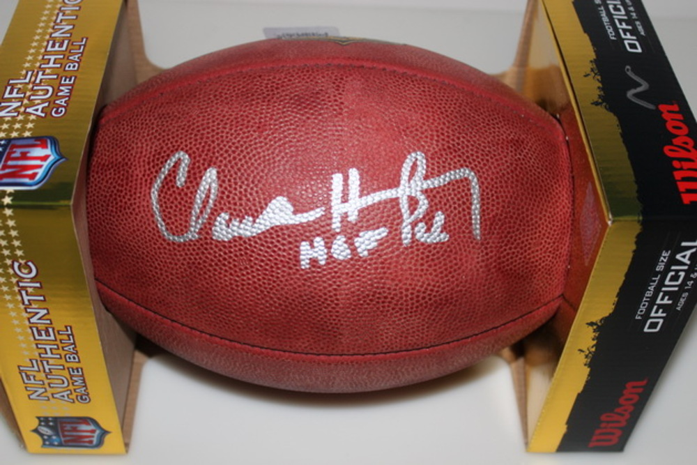 HOF - EAGLES CLAUDE HUMPHREY SIGNED AUTHENTIC FOOTBALL