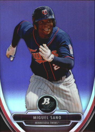 Photo of 2013 Bowman Platinum Chrome Prospects Purple Refractors  Miguel Sano