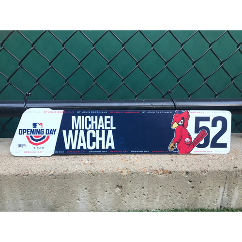 Photo of Cardinals Authentics: Michael Wacha Game-Used Opening Day Locker Tag