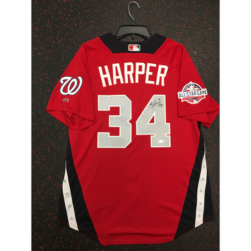 Photo of Bryce Harper 2018 Major League Baseball Workout Day Autographed Jersey