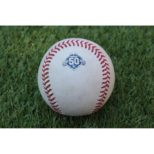 Photo of Player Collected Baseball: Mike Moustakas 139th Career Home Run - Final Home Run as a Royal (DET @ KC - 7/24/18)