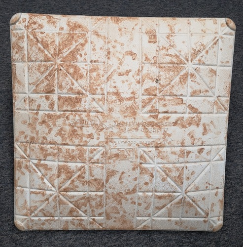 Photo of Authenticated Game Used Base - 2nd Base for Innings 1 to 3 on June 15 and 16, 2018: Used for a Max Scherzer started game.