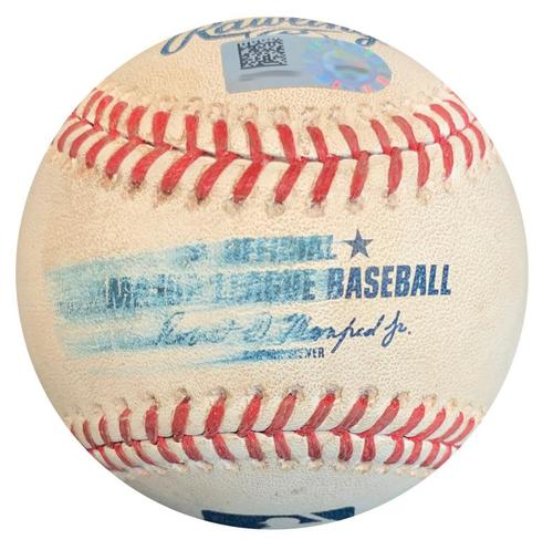 Photo of Game-Used Baseball from Pirates vs. Nationals on 7/10/18 - Daniel Murphy Foul