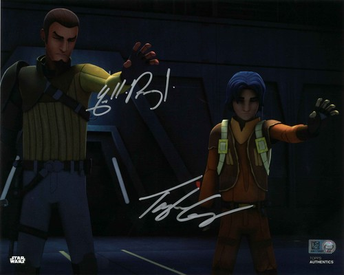 Freddie Prinze Jr. and Taylor Gray As Kanan Jarrus and Ezra Bridger 8X10 Autographed in Silver Ink Photo
